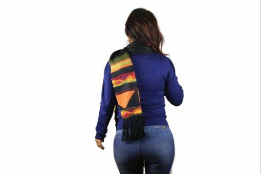Alpaka Schal Inti Raymi schwarz