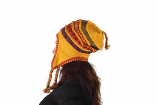 Chullo Mütze gelb Modell 2