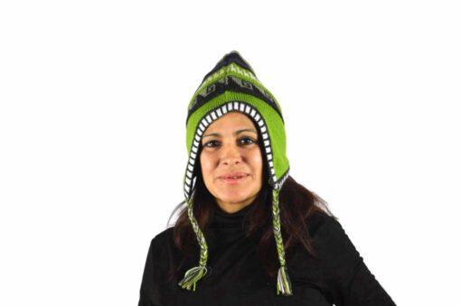Chullo Mütze hellgrün Modell 1
