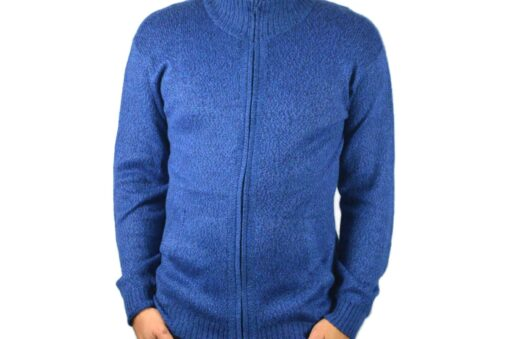 Alpakastrickjacke Napaykusunchis blau L