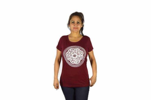 Ayhuasca Shirt Damen Weinrot