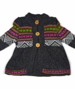 Alpaka Kleidchen dunkelgrau 98