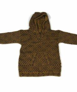 Alpaka Pullover Kinder Cuadritos Braun 116