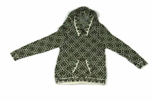Alpaka Pullover Kinder Cuadritos Grün 122