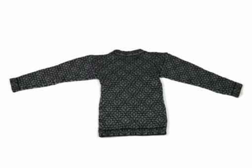 Alpaka Pullover Kinder Cuadros grau 116