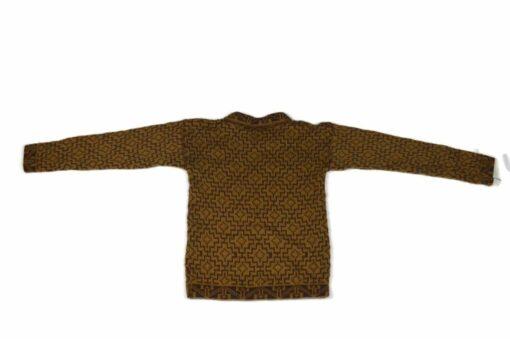 Alpaka Pullover Kinder Cuadros braun 122