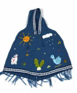 Kinderponcho Peru blau 1ß4