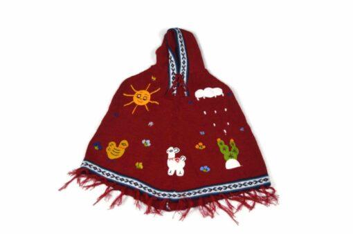 Kinderponcho Peru rot 104