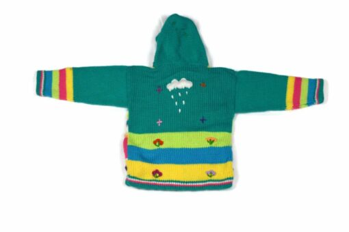 Kinderstrickjacke Grün 86-92 Modell 2