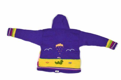 Kinderstrickjacke Violett 116-122 Modell 4