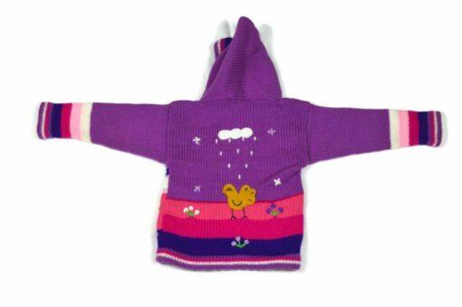 Kinderstrickjacke Violett 86 Modell 1