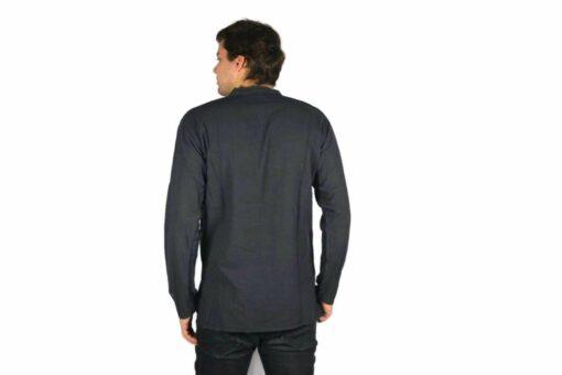 Shipibo Leinen Shirt Schwarz Modell 1