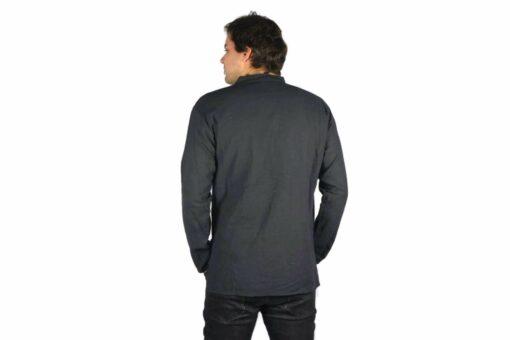 Shipibo Leinen Shirt Schwarz Modell 2