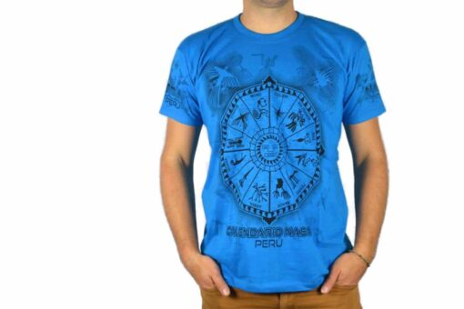 Nasca Kalendar T-Shirt blau