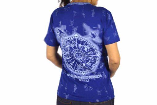 Nasca Kalendar T-Shirt dunkelblau