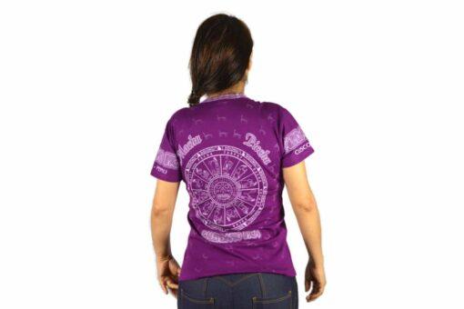 Nasca Kalendar T-Shirt violett
