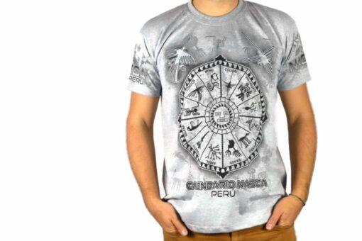 Nasca Kalendar T-Shirt weiß