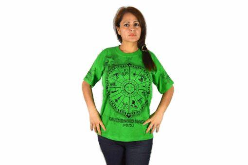 Nasca Kalendar T-Shirt grün