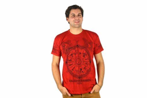 Nasca Kalendar T-Shirt rot
