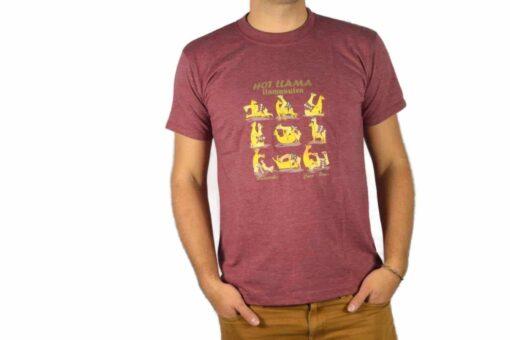 Shirt Llamasutra weinrot