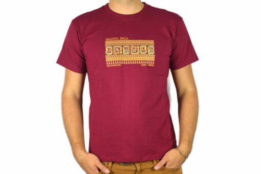 Shirt Manto Inca Weinrot