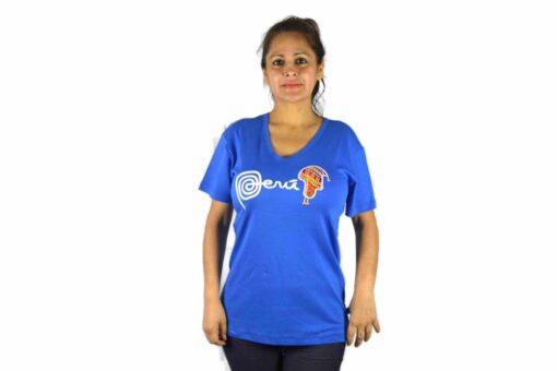 Shirt Peru Chullo Damen Hellblau