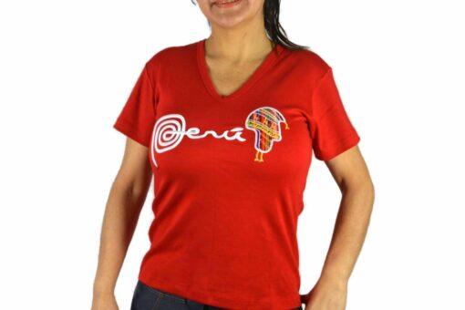 Shirt Peru Chullo Damen Rot