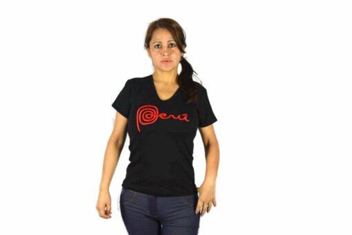Shirt Peru Damen Schwarz