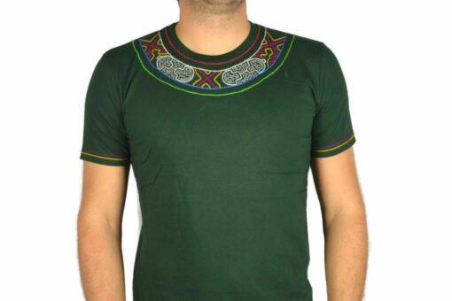 Shipibo Shirt Grün Accai L Modell 5