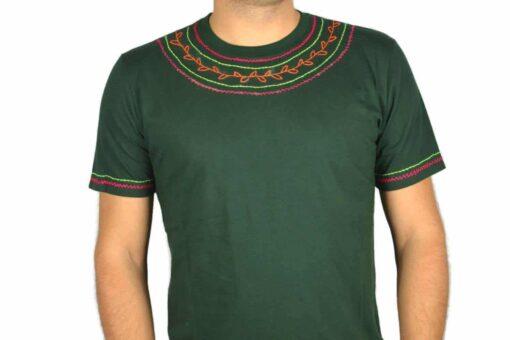 Shipibo Shirt Grün Accai XL Modell 1