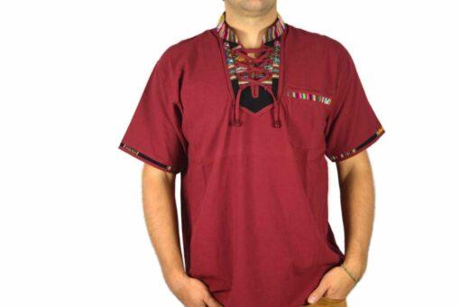 Aguayo Shirt weinrot