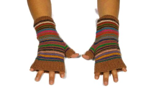 Alpaka Handschuhe Orko dunkelbraun