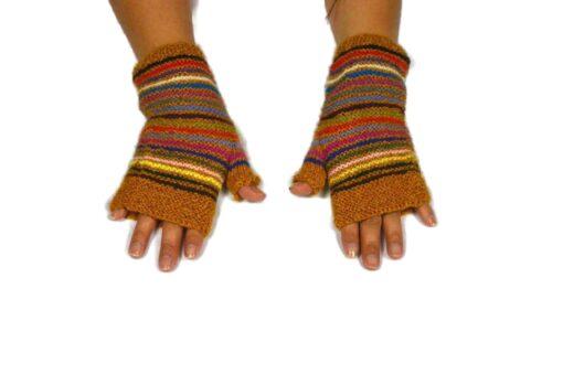 Alpaka Handschuhe Orko braun