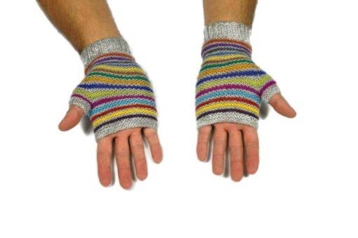 Alpaka Handschuhe Orko grau