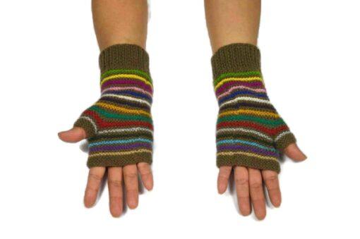 Alpaka Handschuhe Orko olivgrün