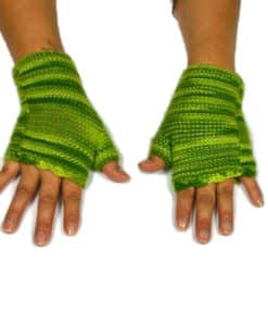 Alpaka Handschuhe Wayra grün