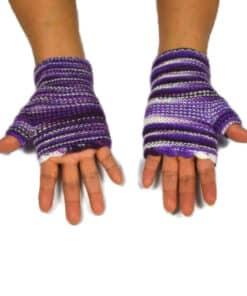 Alpaka Handschuhe Wayra violett
