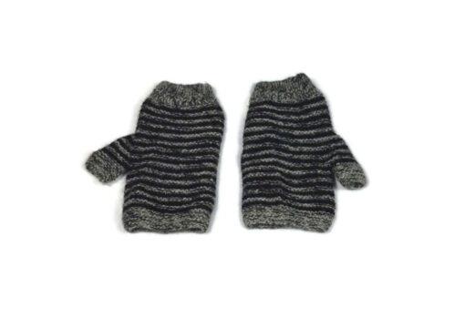 Alpaka Handschuhe Rayas Grau Modell 1