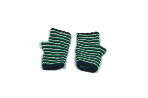 Alpaka Handschuhe Rayas Grün Modell 1