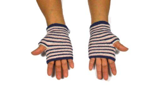 Alpaka Handschuhe Rayas Rosa Modell 1