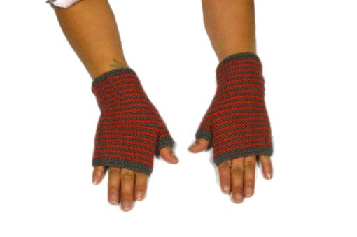 Alpaka Handschuhe Rayas Rot Modell 1