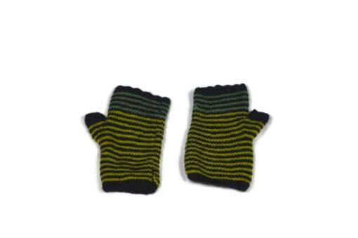 Alpaka Handschuhe Rayas Schwarz Modell 2