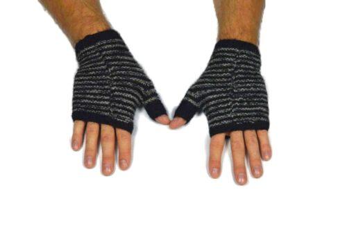 Alpaka Handschuhe Rayas Schwarz Modell 3