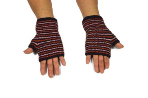 Alpaka Handschuhe Rayas Schwarz Modell 1