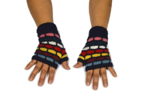 Alpaka Handschuhe Kuychi dunkelblau