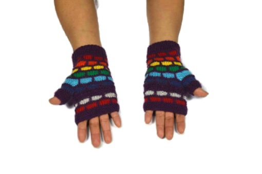 Alpaka Handschuhe Kuychi violett