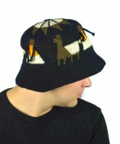 Alpaka Hut schwarz