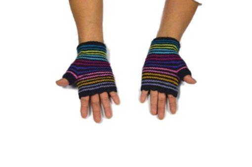 Alpaka Handschuhe Regenbogen Modell 5