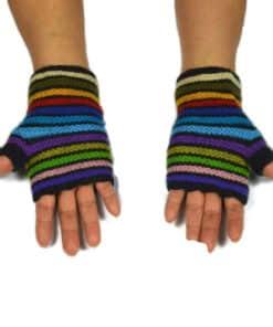 Alpaka Handschuhe Regenbogen Modell 7