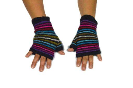 Alpaka Handschuhe Regenbogen Modell 8
